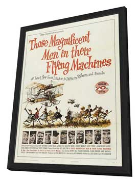 Those Magnificent Men in Their Flying Machines - 27 x 40 Movie Poster - Style A - in Deluxe Wood Frame