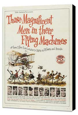Those Magnificent Men in Their Flying Machines - 27 x 40 Movie Poster - Style A - Museum Wrapped Canvas