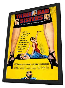Three Bad Sisters - 11 x 17 Movie Poster - Style A - in Deluxe Wood Frame
