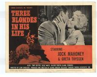 Three Blondes in His Life - 11 x 14 Movie Poster - Style A