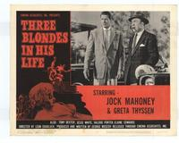 Three Blondes in His Life - 11 x 14 Movie Poster - Style B