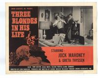 Three Blondes in His Life - 11 x 14 Movie Poster - Style E