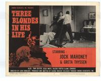 Three Blondes in His Life - 11 x 14 Movie Poster - Style H