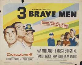 Three Brave Men - 22 x 28 Movie Poster - Style A
