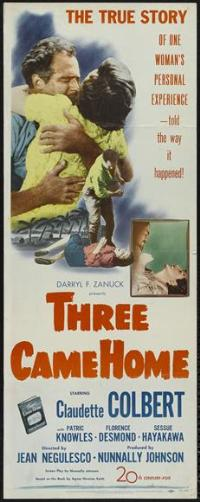 Three Came Home - 14 x 36 Movie Poster - Insert Style A