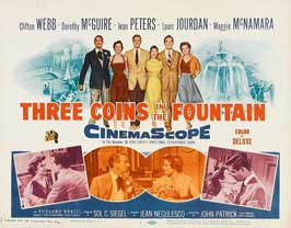 Three Coins in the Fountain - 11 x 14 Movie Poster - Style A