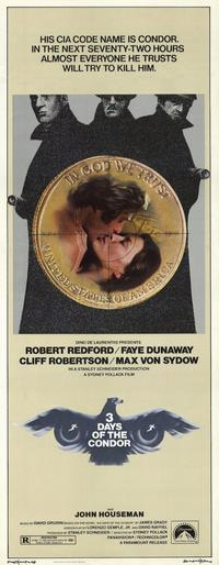 Three Days of the Condor - 14 x 36 Movie Poster - Insert Style A