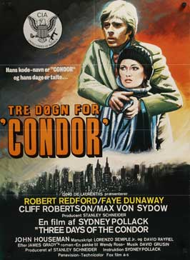 Three Days of the Condor - 27 x 40 Movie Poster - Danish Style A