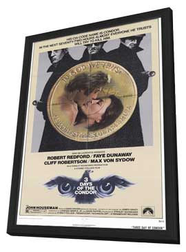Three Days of the Condor - 11 x 17 Movie Poster - Style A - in Deluxe Wood Frame