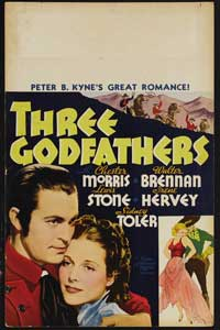 Three Godfathers - 14 x 22 Movie Poster - Window Card