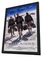 Three Kings - 27 x 40 Movie Poster - Style B - in Deluxe Wood Frame