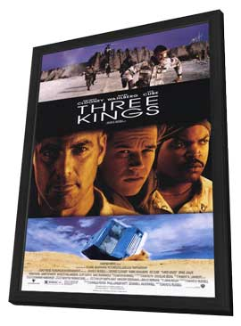 Three Kings - 11 x 17 Movie Poster - Style A - in Deluxe Wood Frame