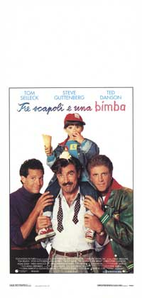 Three Men and a Baby - 13 x 28 Movie Poster - Italian Style A