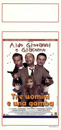 Three Men and a Leg - 13 x 28 Movie Poster - Italian Style A