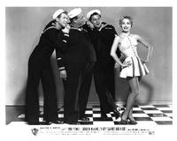 Three Sailors and a Girl - 8 x 10 B&W Photo #2
