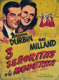 Three Smart Girls - 11 x 17 Movie Poster - Spanish Style A