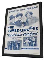 Three Stooges: For Crimin Out Loud - 27 x 40 Movie Poster - Style A - in Deluxe Wood Frame