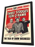 Three Stooges Fun-O-Rama - 11 x 17 Movie Poster - Style A - in Deluxe Wood Frame