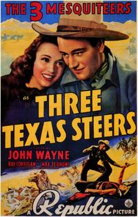 Three Texas Steers - 11 x 17 Movie Poster - Style A