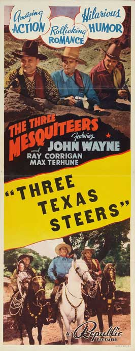 Three Texas Steers - 14 x 36 Movie Poster - Insert Style A