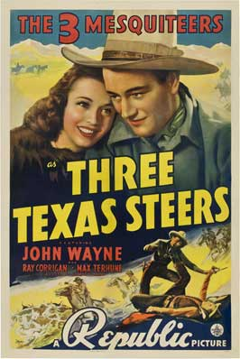 Three Texas Steers - 11 x 17 Movie Poster - Style B