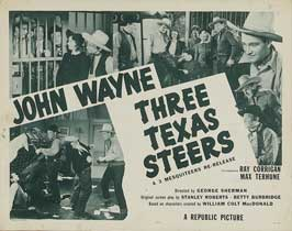 Three Texas Steers - 11 x 14 Movie Poster - Style A