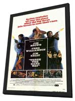 Three the Hard Way - 11 x 17 Movie Poster - Style A - in Deluxe Wood Frame