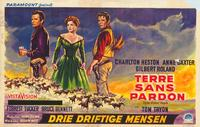 Three Violent People - 11 x 17 Movie Poster - Belgian Style A