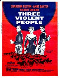Three Violent People - 27 x 40 Movie Poster - UK Style A