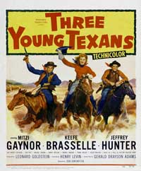 Three Young Texans - 11 x 17 Movie Poster - Style B