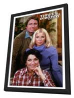 Three's Company - 11 x 17 Movie Poster - Style C - in Deluxe Wood Frame