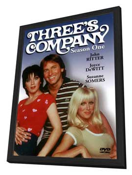 Three's Company - 27 x 40 Movie Poster - Style A - in Deluxe Wood Frame