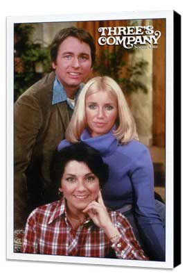 Three's Company - 11 x 17 Movie Poster - Style C - Museum Wrapped Canvas