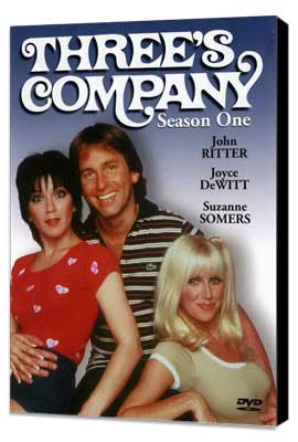 Three's Company - 27 x 40 Movie Poster - Style A - Museum Wrapped Canvas