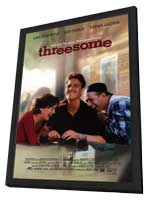 Threesome - 11 x 17 Movie Poster - Style A - in Deluxe Wood Frame