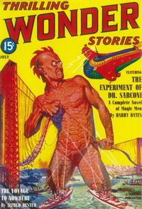 Thrilling Wonder Stories (Pulp) - 11 x 17 Pulp Poster - Style B