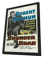 Thunder Road - 27 x 40 Movie Poster - Style C - in Deluxe Wood Frame