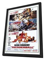 Thunderball - 11 x 17 Movie Poster - Style A - in Deluxe Wood Frame