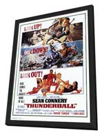 Thunderball - 27 x 40 Movie Poster - Style A - in Deluxe Wood Frame