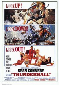 Thunderball - 43 x 62 Movie Poster - Bus Shelter Style A