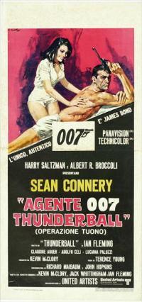 Thunderball - 13 x 28 Movie Poster - Italian Style A