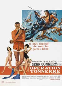 Thunderball - 27 x 40 Movie Poster - French Style A