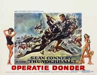 Thunderball - 11 x 17 Movie Poster - Belgian Style A
