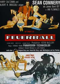 Thunderball - 27 x 40 Movie Poster - German Style A