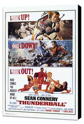 Thunderball - 11 x 17 Movie Poster - Style A - Museum Wrapped Canvas