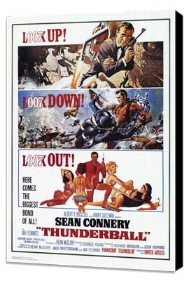 Thunderball - 27 x 40 Movie Poster - Style A - Museum Wrapped Canvas
