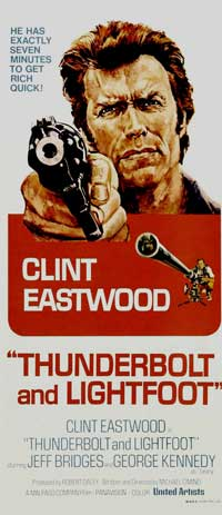 Thunderbolt & Lightfoot - 14 x 36 Movie Poster - Insert Style A