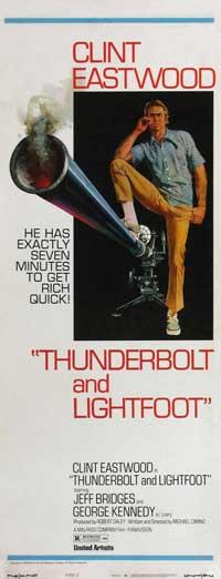 Thunderbolt & Lightfoot - 14 x 36 Movie Poster - Insert Style B