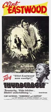 Thunderbolt & Lightfoot - 11 x 17 Movie Poster - Swedish Style A
