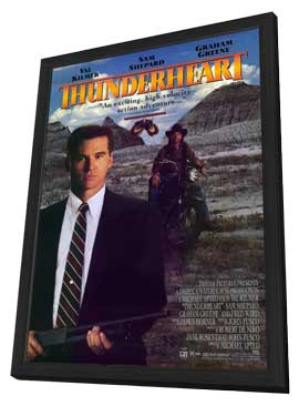 Thunderheart - 11 x 17 Movie Poster - Style C - in Deluxe Wood Frame